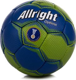 Allright Piłka ręczna Optima Mini niebiesko-zielona r. 0