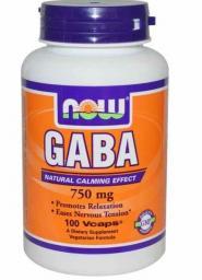 NOW Foods GABA 500mg 100 kapsułek