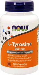NOW Foods L-Tyrosine 120 kapsułek (NOW/037)
