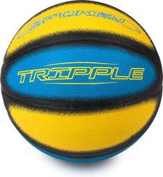 Spokey Piłka Do Koszykówki Tripple 7 Niebiesko-Żółty Rozmiar Uniwersalny (Spokey832893)