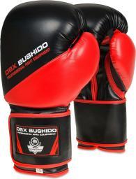 DBX BUSHIDO Rękawice bokserskie sparingowe ARB-437 czarno-czerwone r. 12