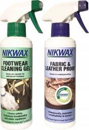 Nikwax Zestaw do pielęgnacji obuwia żel czyszczący i impregnat SprayOn 2x300ml (NI-25)