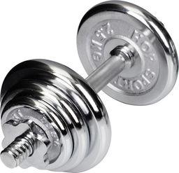 Hop-Sport Hantla treningowa chromowana 10kg srebrna