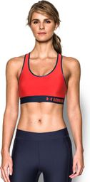 Under Armour Biustonosz Mid Graphic Sports Bra Pomegranate czerwony r. S (1293777693)