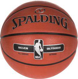 Spalding Piłka Do Koszykówki Silver Outdoor 7 Rozmiar Uniwersalny (834941)