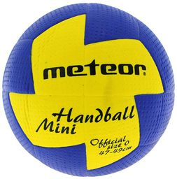 Meteor Piłka ręczna Nuage Mini niebiesko-żółta r. 0