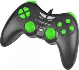 Gamepad Esperanza EGG105KG Fighter Czarno-zielony