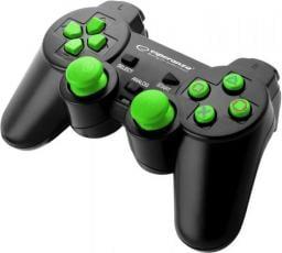 Gamepad Esperanza EGG106G Corsair Czarno-zielony