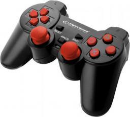 Gamepad Esperanza EGG107R Trooper Czarno-czerwony