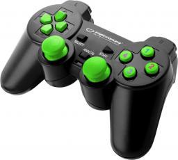 Gamepad Esperanza EGG102G Warrior Czarno-zielony
