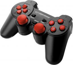 Gamepad Esperanza EGG102R Warrior Czarno-czerwony