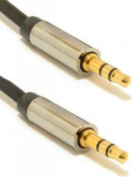 Kabel Gembird MiniJack 3.5 mm - MiniJack 3.5 mm, 1, Czarny (CCAP-444-1M)