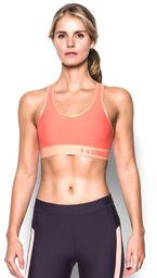 Under Armour Biustonosz Mid Graphic Sports Bra London Orange pomarańczowy r. XS (129377744)