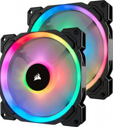Corsair LL140 RGB LED Static Pressure, 140 mm, PWM, dwupak (CO-9050074-WW)