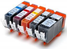 Activejet Tusz do drukarki Canon, zamiennik PGI-520Bk, CLI-521C, CLI-521M, CLI-521Y, czarny, cyan, magenta, yellow (AC-M520/521R)