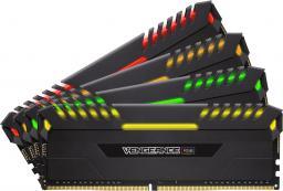 Pamięć Corsair Vengeance LED, DDR4, 64 GB,3333MHz, CL16 (CMR64GX4M4C3333C16)