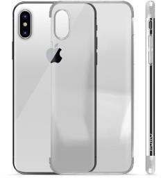 PURO Verge Crystal Cover Etui iPhone X, srebrny (IPCXVERGESIL)