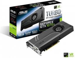 Karta graficzna Asus GeForce GTX 1070 Ti Turbo 8GB GDDR5 (256 bit) DVI-D, HDMI, 3xDP, BOX (TURBO-GTX1070TI-8G)