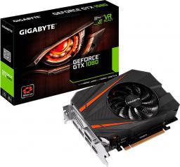 Karta graficzna Gigabyte GeForce GTX 1080 Mini ITX 8GB GDDR5 (256-Bit) DVI-D, HDMI, 3xDP, BOX (GV-N1080IX-8GD)