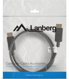 Kabel Lanberg DisplayPort - DisplayPort, 1, Czarny (CA-DPDP-10CC-0010-BK)