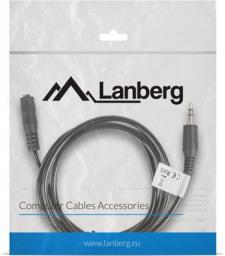 Kabel Lanberg MiniJack 3.5 mm - MiniJack 3.5 mm, 1.5, Czarny (CA-MJFJ-10CC-0015-BK)