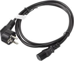 Kabel zasilający Lanberg CEE 7/7 - IEC 320 C13, 1.8m, czarny (CA-C13C-10CC-0018-BK)
