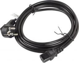 Kabel zasilający Lanberg CEE 7/7 - IEC 320 C13, 3m, czarny (CA-C13C-11CC-0030-BK)