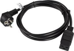Kabel zasilający Lanberg CEE 7/7 - IEC 320 C19, 1.8m, czarny (CA-C19C-10CC-0018-BK)