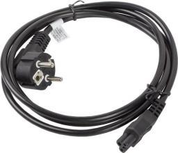 Kabel zasilający Lanberg IEC 7/7 - IEC 320 C5, 1.8m, czarny (CA-C5CA-11CC-0018-BK)