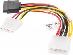 Lanberg kabel Molex 4pin - Molex 4pin/SATA 15pin 15cm (CA-HDSA-12CU-0015)