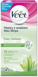 Veet Plastry do depilacji z woskiem dla skóry suchej 12 szt