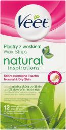 Veet Natural Inspirations Plastry do depilacji nóg i ciała z Aloesem 12 szt.