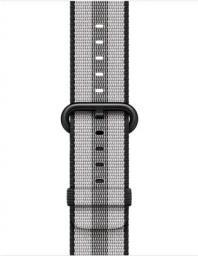 Apple Pasek z plecionego nylonu w kolorze czarnym (w prążki) do koperty 38 mm (MQVG2ZM/A)