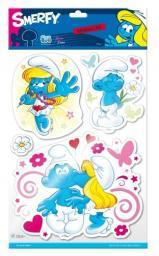 Sticker BOO Dekoracja ścienna Smerfy 3D (DECLIC305)