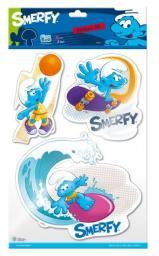 Sticker BOO Dekoracja ścienna Smerfy 3D (DECLIC306)