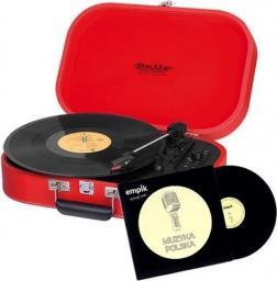 Gramofon Trevi TT 1020 BT Red + płyta Winylowa Muzyka Polska (TREVITT1020BTRED)