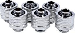 """Alphacool Złączki choinkowe 1/4"""" - 16/10mm, 6szt. srebrne (17235)"""