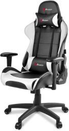 Fotel Arozzi Verona V2 Czarno-biały (VERONA-V2-WT)