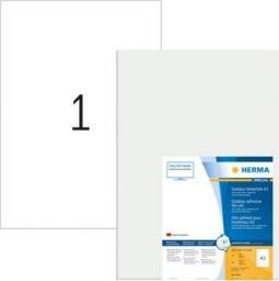 Herma Odporne na warunki atmosferyczne etykiety foliowe A3, 297 x 420 mm, białe, wyjątkowo silna przyczepność, rozciągliwe - 9544