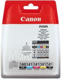 Canon Oryginalny zestaw tuszy PGI-580PBK i CLI-581 CMYK (2078C005)