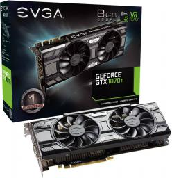 Karta graficzna EVGA GeForce GTX 1070 Ti SC Gaming ACX 3.0 Black Edition 8GB GDDR5 (256 bit) DVI-D, HDMI, 3xDP, BOX (08G-P4-5671-KR)