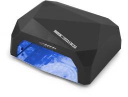 Esperanza Lampa do paznokci UV Led Onyx lakier żelowy, hybrydowy czarna (EBN002K)