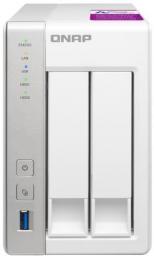 Serwer plików Qnap  NAS 2-Bay TurboNAS, SATA 6G, 1,7GHz 4-Core, 4GB RAM, 2x GbE LAN, 3xUSB 3.0 (TS-231P2-4G)