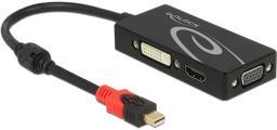 Kabel Delock DVI DisplayPort HDMI D-Sub (VGA), 0.2, Czarny (62855)