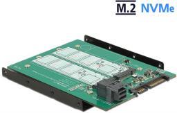 Kontroler Delock Adapter Sata 22 pin SFF-8643 NVMe > 1 x M.2 z wpustem M + 1 x M.2 z wpustem B (62704)