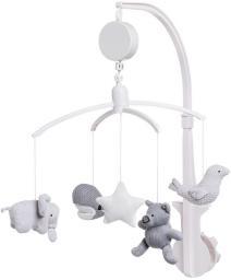 Babys Only Baby's Only, Karuzela grająca ze zwierzątkami, szara (BSO0852352)
