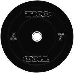 TKO Talerz Bumper Rubber czarny 5kg (K802BP-5)