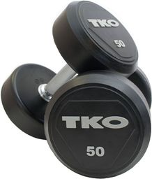 TKO Hantle Ogumowane Pro 8 kg czarno-srebrne (K828RR-8)