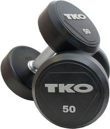 TKO Hantel Ogumowany Pro 18 kg czarno-srebrny (K828RR-18)