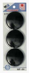 Argo Magnes  50mm  3 sztuki, czarny  (607101)